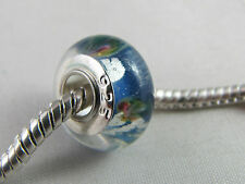 925 STAMPED SILVER SINGLE CORE MURANO BEADS FOR EUROPEAN CHARM BRACELETS (067)