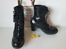 Rare Dr Martens Diva Darcie black Heel leather UK 8 E 42 US 10