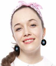 Record Earrings - Pierced - Sock Hop Dance - Fun 50s - Made in USA - Hey Viv