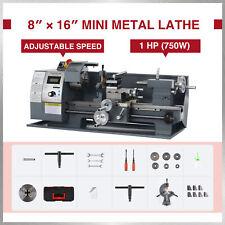 Preenex 8x16 Mini Metal Lathe Benchtop Woodworking Equipment 750w Motor 2250rpm