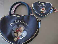 Diddl Diddlina Tasche Handtasche und Geldbeutel mit Anhänger, Blau, Top