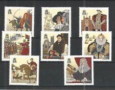 TRISTAN DA CUNHA 2010 HISTORY OF THE BRITISH ISLES SG,964-971 UM/M NH LOT 1081A
