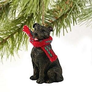 Staffy Christmas Tree Figurine Decoration/Ornament Dog Present/Gift Staffie
