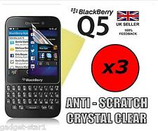 3x HQ CRYSTAL CLEAR SCREEN PROTECTOR COVER LCD FILM GUARD FOR BLACKBERRY Q5 BB