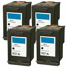 4 x 901XL CC654AN Black Remanufacture Ink For OfficeJet G510a G510g G510n 4500