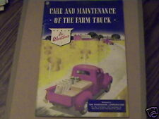 CARE & MAINTENANCE OF THE FARM TRUCK,IN WARTIME,BOOK