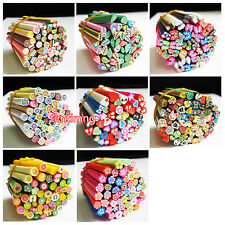 50pcs Mixed Styles Polymer Clay Cane Nail Stickers DIY Nail Art Decal