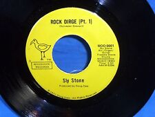 Sly Stone: Rock Dirge / pt. 2   on Woodcock 0001  [NEW, and unplayed]