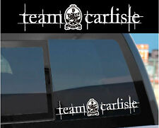 """Team Carlisle"" Sticker Decal for Twilight & Edward w/ Cullen crest design too!"