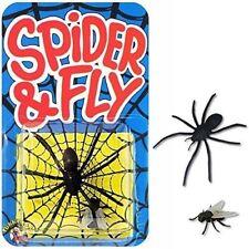 Araña falso & Fly Gracioso Niños trucos malvados Bromas Fiesta Halloween Fiesta Broma