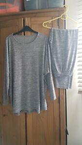 Slouch Loungewear / pyjamas / tracksuit Grey mix , size 16,