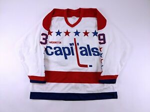 1988-89 Washington Capitals Kent Carlson GAME ISSUED Hockey Jersey