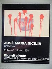 Jose Maria Sicilia Art Gallery Exhibit PRINT AD - 1994 ~~ Colmenas