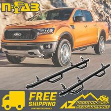 N-FAB Nerf Side Steps For 2018-2020 Ford Ranger Crew Cab Gloss Black F1981cc