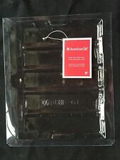 """American Girl Clear Plastic Book Holder + Red Wrist Tag Included With 18"""" Doll"""