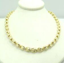 "18K Yellow Gold Figure 8 Link Chain Necklace Chimento Italian 5.2mm 16.75""D9661"