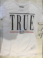 TRUE RELIGION WOMEN DJA VU  CRYSTAL GRAPHICS TSHIRT CNK NWT L $66