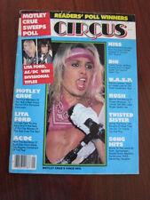 Circus Feb 28 1986 Motley Crue Lita Ford AC DC Kiss Dio Wasp Rush Twisted Sister