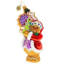 New Christopher Radko The Gingerbread Man Can! Christmas Ornament 1020303