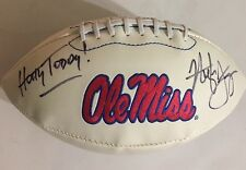 Hugh Freeze Signed Ole Miss Logo Football W/ Photo Proof & COA