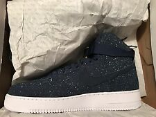 Mens Nike Air Force 1 High PRM QS Sneakers New, Navy Blue Michigan - Size 13