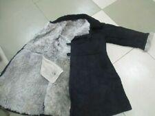 USSR Army Winter Fur Coat Bekesha Tulup Sheepskin BLACK shearling size 52***