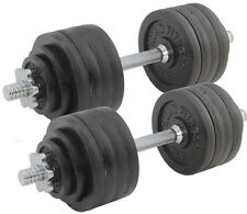 Pair Adjustable Cast Iron Dumbbells Weight 105lb Total Titan Fitness Training
