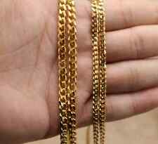 3MM MEN'S Chain Boys Gold Tone Curb Link Stainless Steel Necklace 24'' Gift