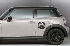 2 Adesivi auto mini cooper stickers tuning logo nero