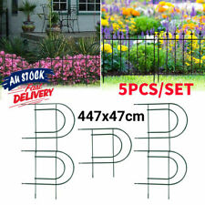 Garden Border Metal Fencing Fence Pannels Outdoor Wrought Iron Edging Yard 5Pack