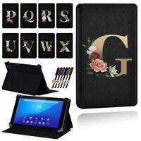 "Gold Letter PU Smart Stand Case Cover For Sony Xperia Z3 8"" /Z4 10.1"" Tablet+Pen"