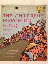Vintage/Rare-THE CHILDREN'S MARCHING SONG-78 RPM-Yellow Vinyl-CLEARANCE SALE!