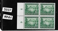 MNH stamp BLOCK PF06 + 04 / Peter Rosegger (Poet)  / 1943 Third Reich / Germany