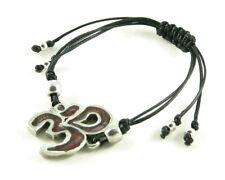 Orgone Energy Shamballa Style Bracelet - Om Symbol Friendship Bracelet-Garnet