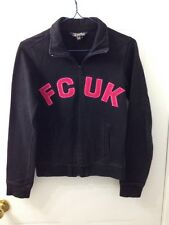 Women's FCUK French Connection Zip Up Sweater Black Size XS