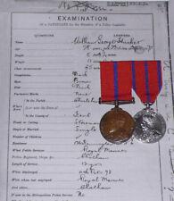 1902 - 1911 MET POLICE PAIR - Thames Div. Ex-Marine Egypt 1888, Died 1918