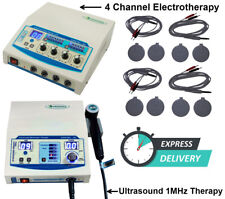 Combo Ultrasound Therapy 1mhz Unit Amp 4 Channel Electrotherapy Super Pro Machine