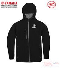 YAMAHA Men's BLACK Softshell Outdoor Outerwear Coat Hoodie Jacket VDF-18JSS-BK