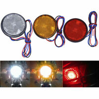 2pcs Rear Tail Brake Stop Light Lamp LED Round Reflector For Car Motorcycle ABS