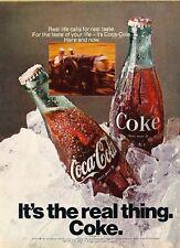 1970 Coca Cola Coke Soda Bottle  Vintage Advertisement Print Ad J592