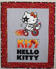 KISS Hello Kitty Bicycle  Handmade Quilt Wallhanging