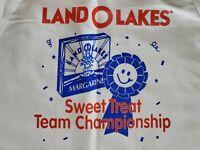 Vintage 1990's Land O Lakes Sweet Treat Team Championship Full Length Apron Mia