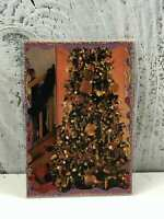 "ACEO Artist Trading Card ""Christmas Tree"" Hand Made Stickers and Glitter"