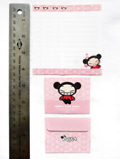 NEW PUCCA Cute Mini Stationery Paper Letter Set 4 Sheets + 2 Envelopes