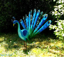 Retro Style PEACOCK Metal Garden Lawn Sculpture Ornament MID CENTURY KITSCH