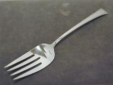 """International Serenity Sterling 9 1/8"""" Lg Cold Meat Serving Fork 1940 NO Mono IS"""