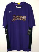 Nike NBA LA Lakers Team Issue Shooting Shirt Purple Mens Size 2XL Authentic NEW!