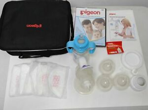 Pigeon Manual Breast Pump with Feeding Set Powerful Baby Nipple Suction