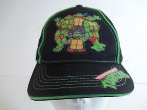 Teenage Mutant Ninja Turtles Kids Adjustable Black Baseball Hat Strapback OSFM