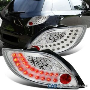 For 11-12 Mazda 2 LED Strip Parking Tail Lights Rear Brake Lamps Left+Right Pair